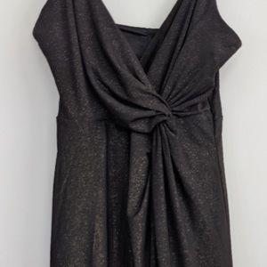 Black and gold forever 21 midi dress